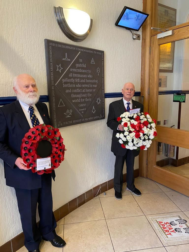 Act of Remembrance at the Memorial Stone in Freemasons' Hall Arthur Square