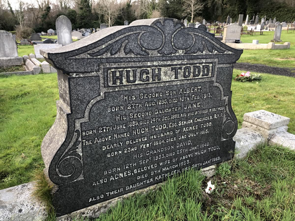 Hugh Todd Grave - Carnmoney Cemetery - Section L Grave 129